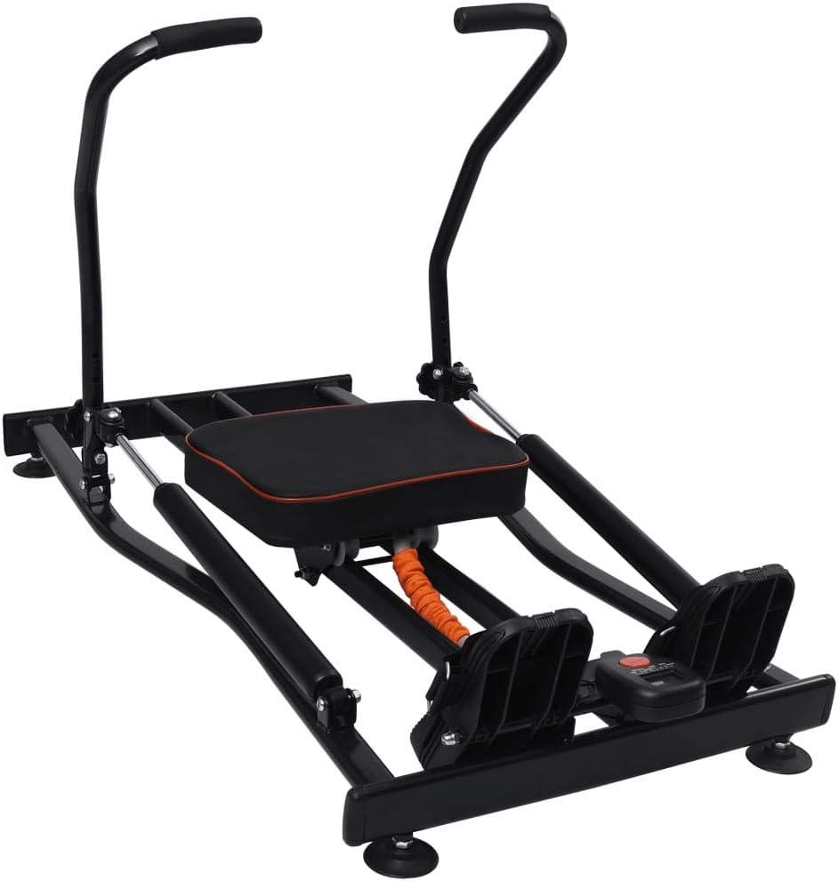 vidaXL Máquina de Remo Resistencia Hidráulica 4 Niveles Entrenador Cardio Equipos de Gimnasio Hogar Entrenamiento Casa Fitness Deporte
