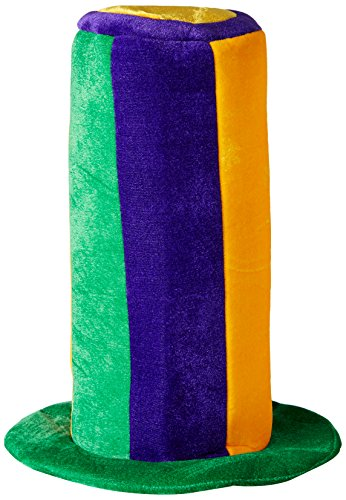 Jester Hats For Sale (Forum Novelties Men's Novelty Adult Mardi Gras Extra Tall Top Hat, Multi, One Size)
