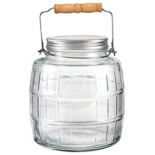 Anchor Hocking 85728 1 Gallon Barrel Jar With Metal Lid