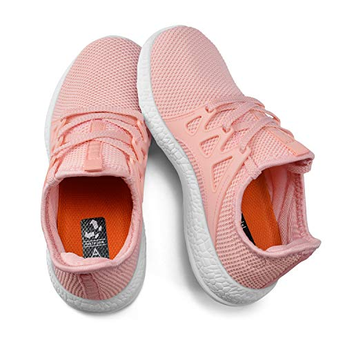 KIKOSOCKS Girls Sneakers Lightweight Breathable Shoes Kids Cute Casual Running Shoes Pink 13 M US ()