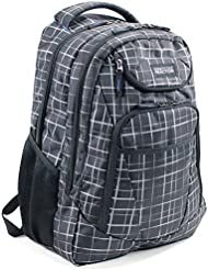 Kenneth Cole Reaction Tribute Collection Laptop Backpack For 17.3 Laptops, White Plaid