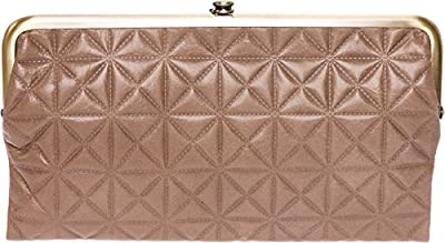 HOBO Womens Leather Vintage Lauren Quilted Embossed Clutch Purse