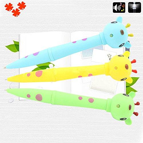Creative Cow Duck Giraffe Electronic Pen LED Light Animal Sound Kids Pen Gift - Cow zsjhtc by zsjhtc (Image #1)