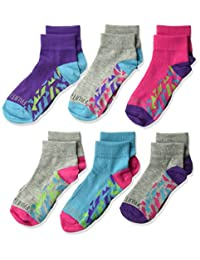 Fruit of the Loom Big Girl's 6 Pack Sport Ankle Socks