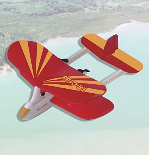 Top Race® C188 Electric 2 Ch Infrared Remote Control RC Biplane Airplane...