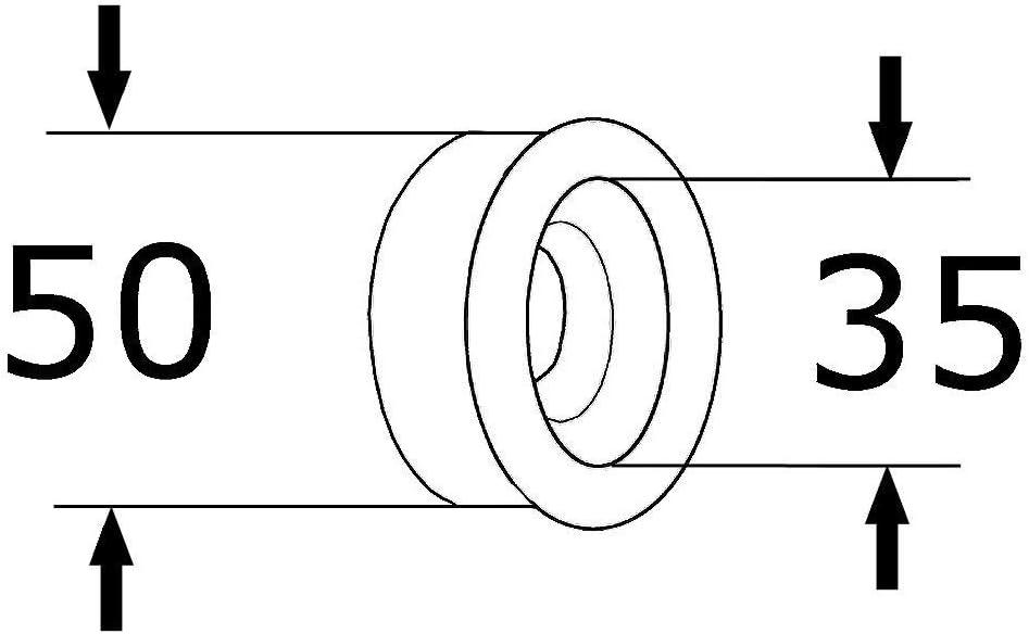 int/érieur 40/mm K/ÖRO Cl/é Siphon Manchon en caoutchouc pour tube Vidage ext/érieur 50/mm