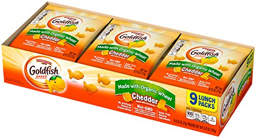 Pepperidge Farm, Goldfish Made with Organic Wheat Cheddar, 0.75 ounce packs, 9 Count (Pack of (Pepperidge Farm Baked Naturals)