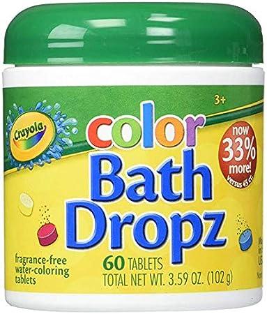 Amazon.com : Crayola Color Bath Dropz 3.59 Ounce - 60 Tablets (Pack of 4) : Beauty