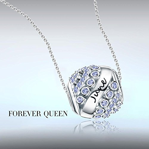 Forever Queen June Birthstone Charms For Pandora Charms Bracelet