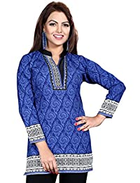 Maple Clothing Printed Kurti Tunic Top Womens Blouse Indian Clothes