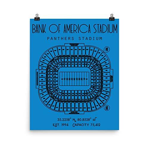 Carolina Panthers Bank of America Stadium Poster Print