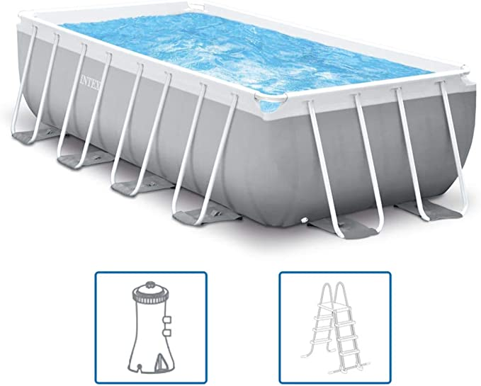 YiYueTrade Intex Prism Frame - Set de Piscina (Rectangular, 400 x ...