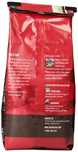 Eight O'Clock Whole Bean Coffee, Colombian Peaks, 11 Ounce (Pack of 6)