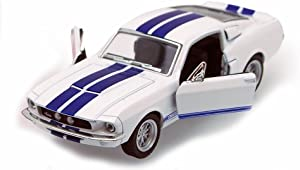 1967 Shelby GT500, White - Kinsmart 5372D - 1/38 scale Diecast Model Toy Car, but NO BOX