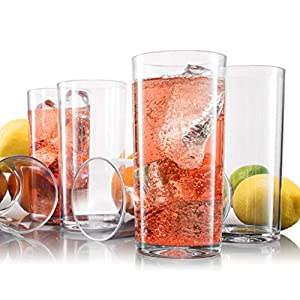 SET of 6 acrylic tumblers - 20 OZ acrylic glassware great use for acrylic wine glasses, or acrylic drinking glasses - Great gift idea