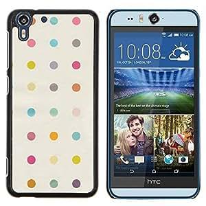Stuss Case / Funda Carcasa protectora - Polka Dot Pastel Beige Jaune Motif Couleurs - HTC Desire Eye ( M910x )