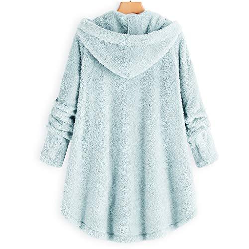 Bouton Pull Keerads De Mode femmesmanteau Bleu Ciel À Moelleux Des Femmes Lâche femme Capuche Blousons Côtelé Queue Manteau La wqBxOnfqXr