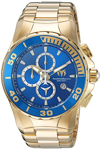 Technomarine Men's 'Manta' Quartz and Stainless Steel Casual Watch, Color:Gold-Toned (Model:
