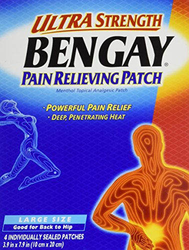 h Pain Relieving Patches - Large Size, 3 Count (Bengay Pain Patch)