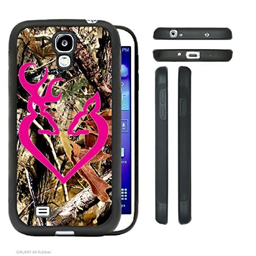 Price comparison product image Accy Cases - Real Tree Camo Buck Hot Pink Buck Love Samsung Galaxy S4 I9500 Rubber Silicone TPU Cell Phone Case