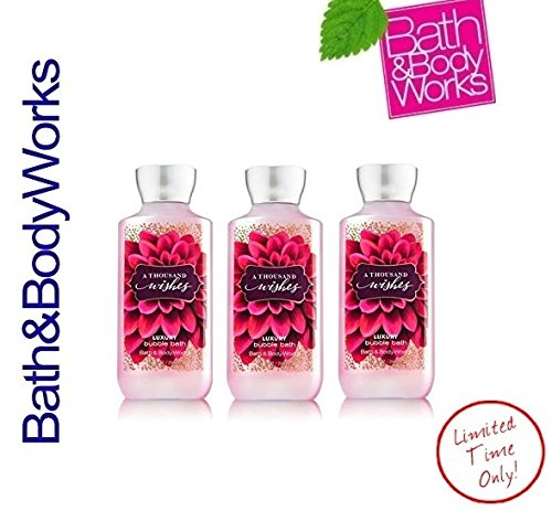 Lot of 3 Bath and Body Works A Thousand Wishes Bubble Bath Lot 10 Ounce Each Bath & Body Works