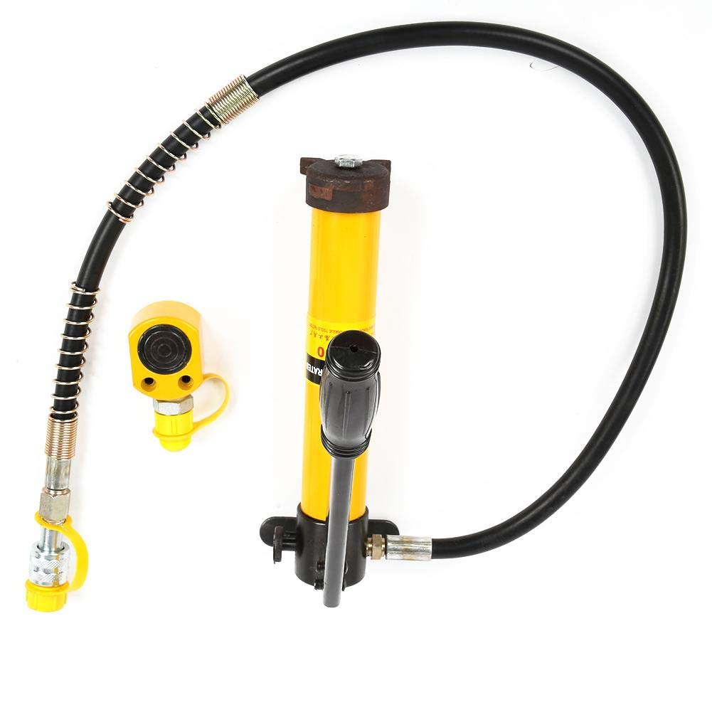 5 Ton Hydraulic Jacks Portable Split Type,700//20 kg//cm/² Manual Hydraulic Pump,for Car Repair Auto Truck Body Frame Repair and Construction Jobs