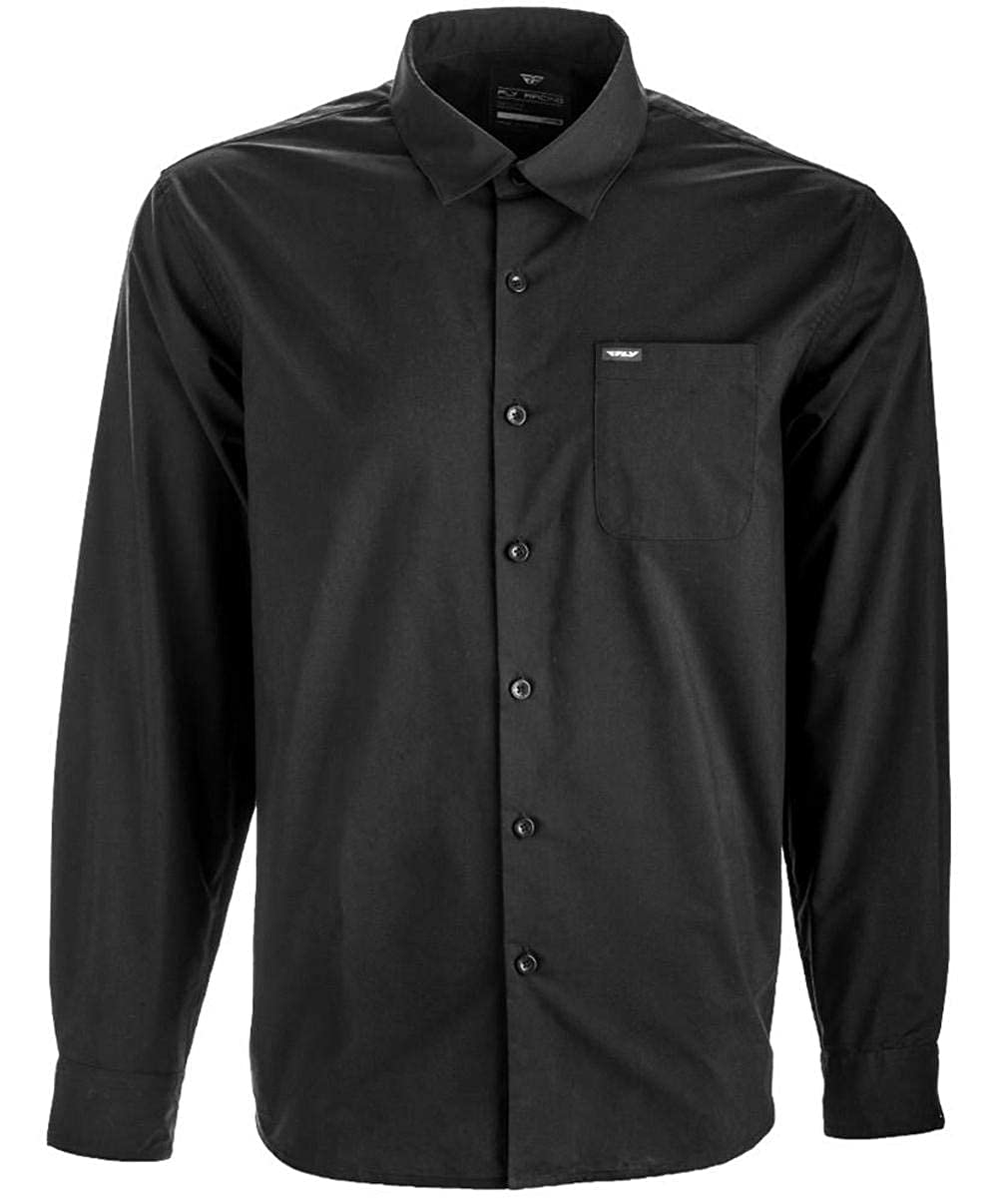 Fly Racing L//S BUTTON UP SHIRT BLACK 2X