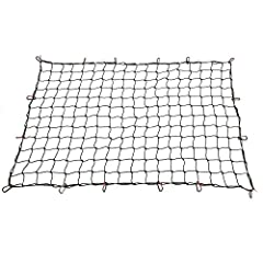 Comes with 24 hooks that are easily moveable and removable to fit any load; the convenient carrying case provides the ideal storage for the cargo net when not in use. This heavy-duty cargo net is durable and easy to use, great for holding a t...