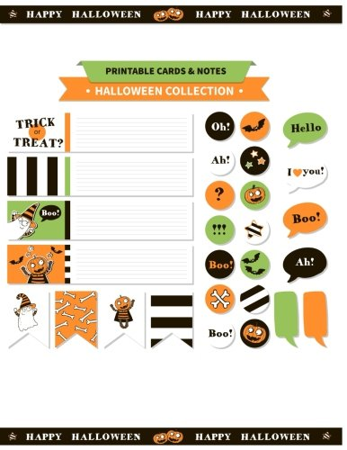 Printable cards and notes : Halloween Collection Printable