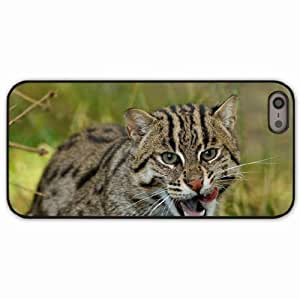 iPhone 5 5S Black Hardshell Case fishing wild predator Desin Images Protector Back Cover