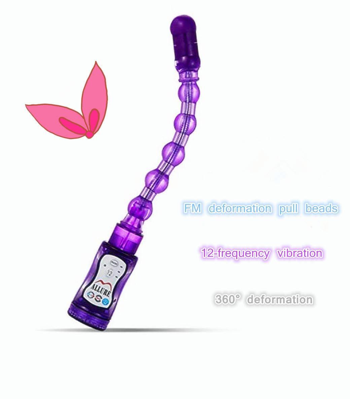 Purple 12 Modes Fun Powerful 360° Rotatable Plastic Long Bead by ZTTT