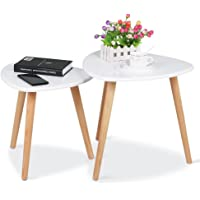 Yaheetech Set of 2 Nesting Tables Stacking Coffee Side End Table Set