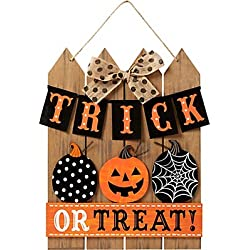 Trick or Treat Sign for Door or Home Decor