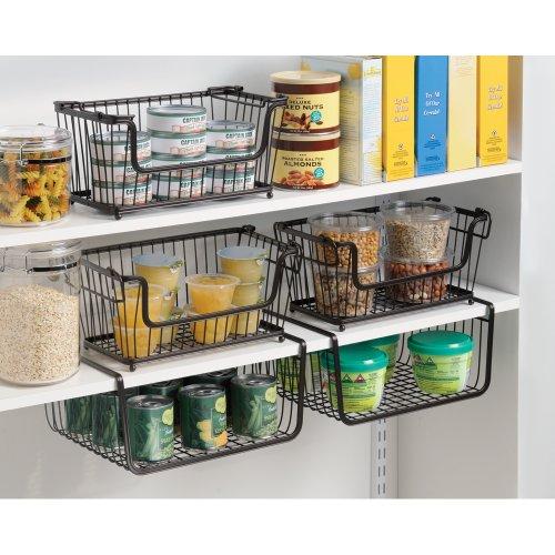 Amazon.com: InterDesign York Lyra Kitchen Pantry Under Shelf Organizer  Basket, Bronze: Home U0026 Kitchen