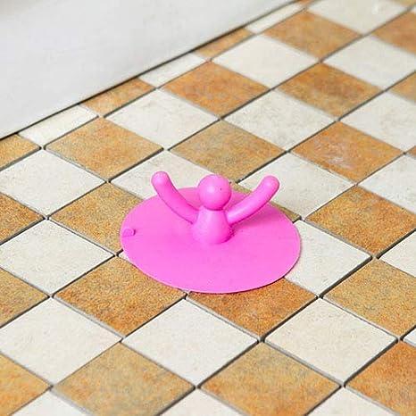 Gracorgzjs Ⓖ Ⓡ Ⓐ cute Shape lavandino scarico a pavimento acqua filtro tappo tappo per lavabo di cucina casa strumento di pulizia Blue