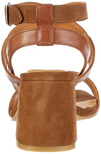 Gant Footwear Rachael, Sandalias de Tacón Cuadrado Mujer Marrón (copper+cognac)