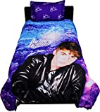 Justin Bieber Concert Twin Comforter Set - Purple Bedding Twin-Single Size