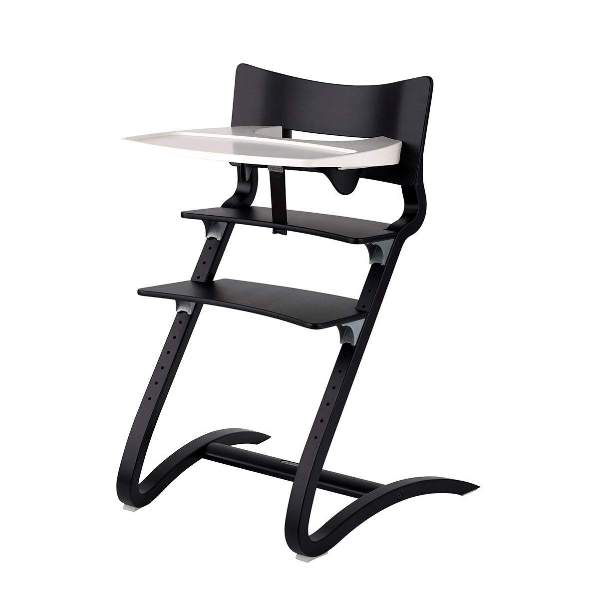 Hochstuhl Leander Stuhl wei/ß Erwachsenenstuhl mit Babyb/ügel Kissen dusty rose Tablett wei/ß Kinderstuhl