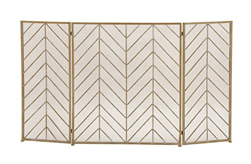 Deco 79 50366 Durable Metal Fire Screen, 52″ W x 31″ H For Sale