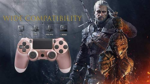 Petilleur PS4 Wireless Bluetooth Game Controller Ps4 Controller with Light bar (Rose Gold)