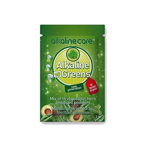 BATIDO VERDE ALKALINE GREENS (molido de 16 verduras, hierbas y plantas) bote 220g