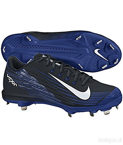 finest selection 2360e 7b95b ... coupon for nike mens lunar vapor pro flywire low metal baseball cleats  black game royal blue