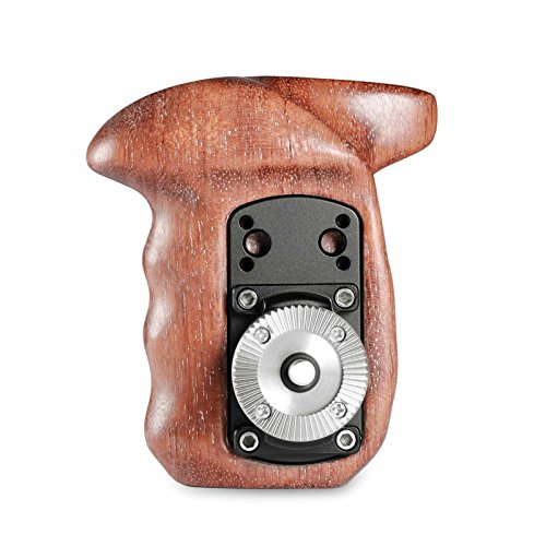 SmallRig Right Side Rosette Wooden Handle for Shoulder Mount Support Rig for DJI Ronin Gimbal, Right Hand - 1941