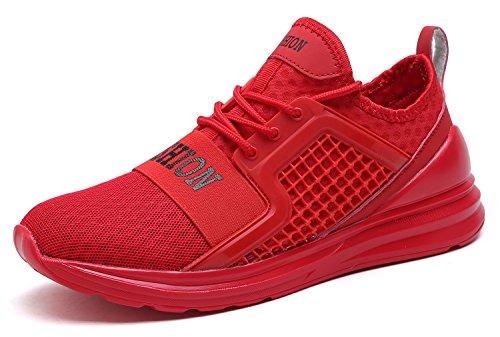 Aptitud Hombre Deportes Ligero Zapatillas Entrenamiento Correr de para Hombre rojo Deporte Zapatos VITIKE 2 por Respirable Zapatillas Zapatos Malla para xnYAvqp