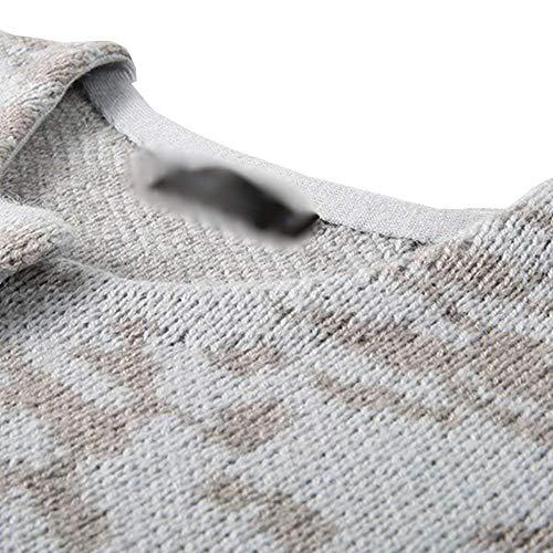 Grau Lunga Casual Stlie Tasche Donna A Maglia Unique Anteriori Maglie Rotondo Giubotto Confortevole Giovane Outerwear Giacca Manica Collo Button Moda qCHwCF50