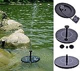 YRD TECH Solar Powered Fountain Kit Outdoor Solar Panel Lawn Bath Fountains Water Pump (Black)