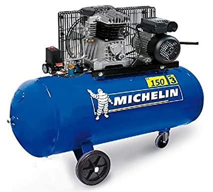 Michelin – Compresor 150L 3 CV Bi Cilindro – MB150