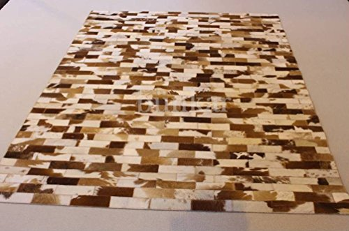 - Bunkar Handmade Natural Cowhide Leather Rug - Jersey Wall (4'x6' (120cm x 180cm) Area Rug)