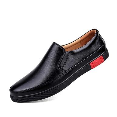 Mocasines Para Hombres Zapatos Casuales De Primavera Y Verano Zapatos De Suela Exterior De Cuero Suela Blanda Zapatillas De Deporte Zapatos Juveniles: ...