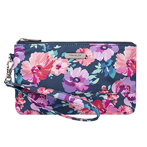 Travelon RFID Blocking Wristlet Clutch, blossom Floral